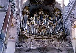 interior of the barock church of in Amorbach, Germany