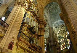 Cathedral of Malaga in Spain, taken with wide angle lens for special perspective