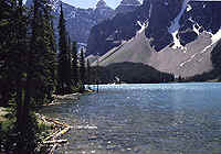 'Lake Moraine' in de Rocky Mountains in Canada