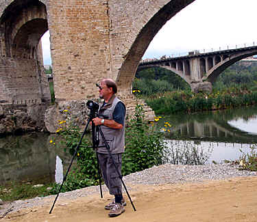 photographing, here in Besalu in Spain